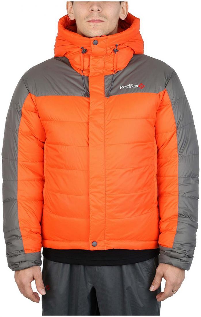 Куртка пуховая KarakorumКуртки<br>Самая теплая пуховая куртка для альпинизма в коллекции Mountain Sport. Выполнена из сверхлегкого и прочного материала с применением пуха высокого качества (F.P 650+). Пухоудерживающая конструкция без использования сквозных швов, малый вес изделия и выс...<br><br>Цвет: Оранжевый<br>Размер: 56