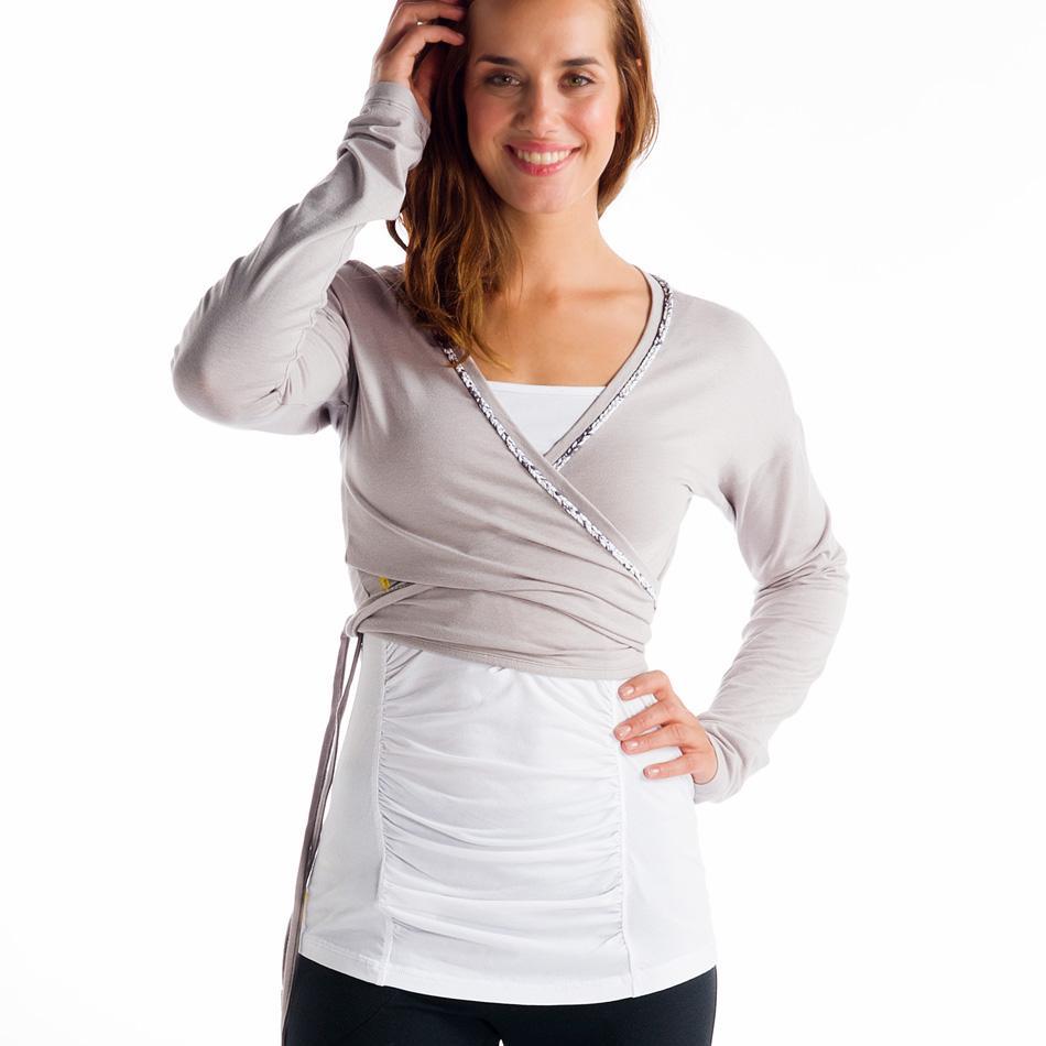 Кардиган LSW0891 SUKHA CARDIGANТолстовки<br><br> Укороченный кардиган с длинным рукавом на завязках комфортно облегает фигуру благодаря мягкому тянущемуся материалу 2d Skin Pure Light. Эколо...<br><br>Цвет: Серый<br>Размер: XS