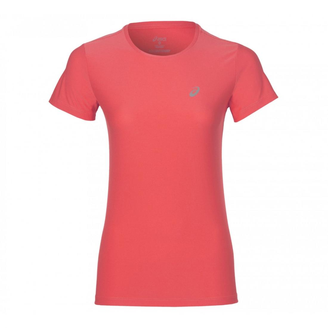 Футболка SS TOPФутболки, поло<br><br>Женская футболка ASICS SS TOP выполнена из качественной трикотажной ткани с волокнами полиэстера, отлично пропускает воздух и быстро отводит лишнюю влагу наружу, оставляя тело сухим даже во время интенсивных тренировок. Подойдет как для занятий спор...