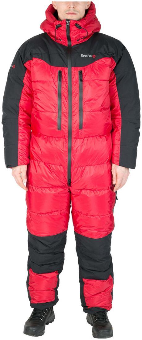 Комбинезон пуховый ExtremeКомбинезоны<br><br> Экспедиционный пуховый комбинезон выполнен из сверхлегкого и прочного материала с применением гусиного пуха высокого качества (F.P 800+).<br><br><br>основное назначение: высотный альпинизм, зимний альпинизм <br>регулируемый в двух пл...<br><br>Цвет: Красный<br>Размер: 60