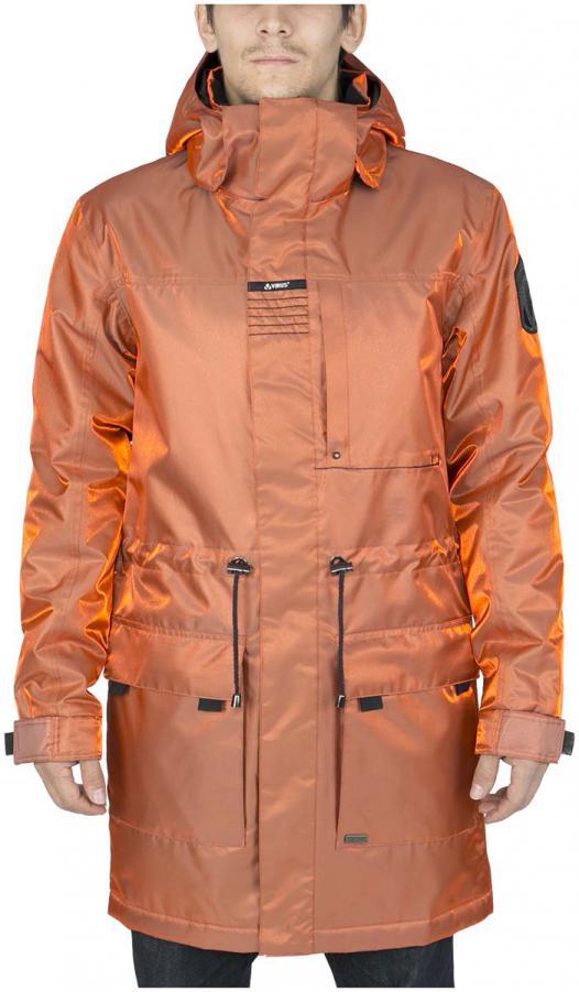 Куртка утепленная KronikКуртки<br><br> Утепленный городской плащ с полным набором характеристик сноубордической куртки. Функциональная снежная юбка, регулируемые манжеты п...<br><br>Цвет: Оранжевый<br>Размер: 52
