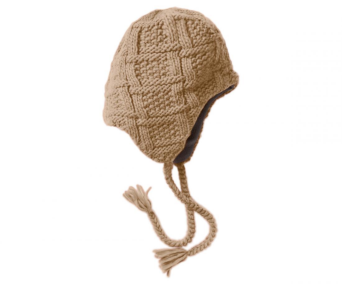 Шапка Polyline IIIУшанки<br><br> Изящная женская шапочка с «ушами» и оригинальной вязкой<br><br><br> Основные характеристики<br><br><br><br><br>комфортная посадка<br>эргономичная конструкция кроя<br>комфортные завязки-косички для сохранения тепла<br>...<br><br>Цвет: Бежевый<br>Размер: None