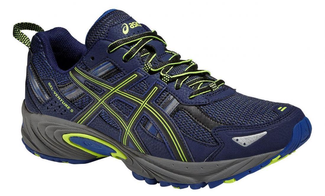 Кроссовки муж. GEL-VENTURE 5Бег, Мультиспорт<br>Легкие кроссовки Asics GEL-VENTURE 5 для бега и ходьбы по пересеченной местности.<br><br>Система амортизации: Asics GEL.<br>Верх: сетчатый материал...<br><br>Цвет: Синий<br>Размер: 8.5