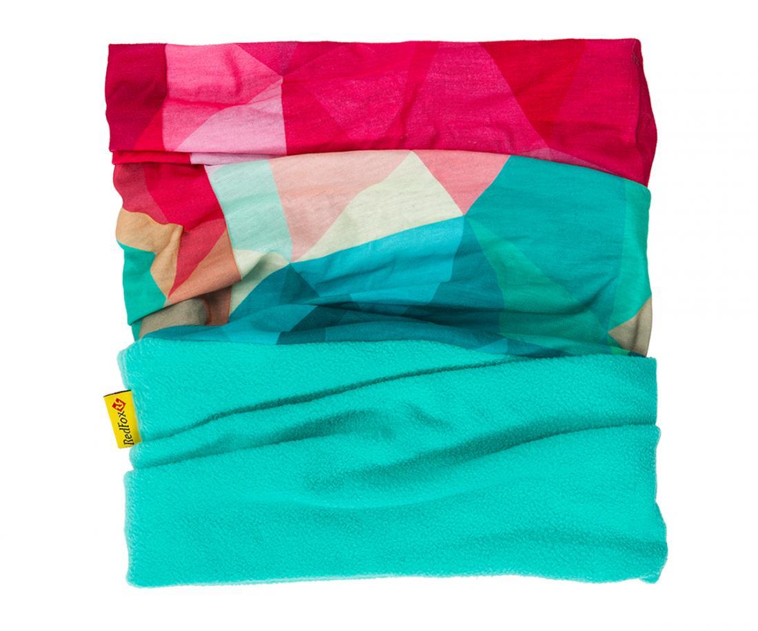 Шарф-бандана MF ДетскийШарфы<br>Универсальный шарф-бандана с флисовой вставкой. Прекрасно защищает от холода. Можно носить в качестве головного убора или в качестве шарфа...<br><br>Цвет: Розовый<br>Размер: None
