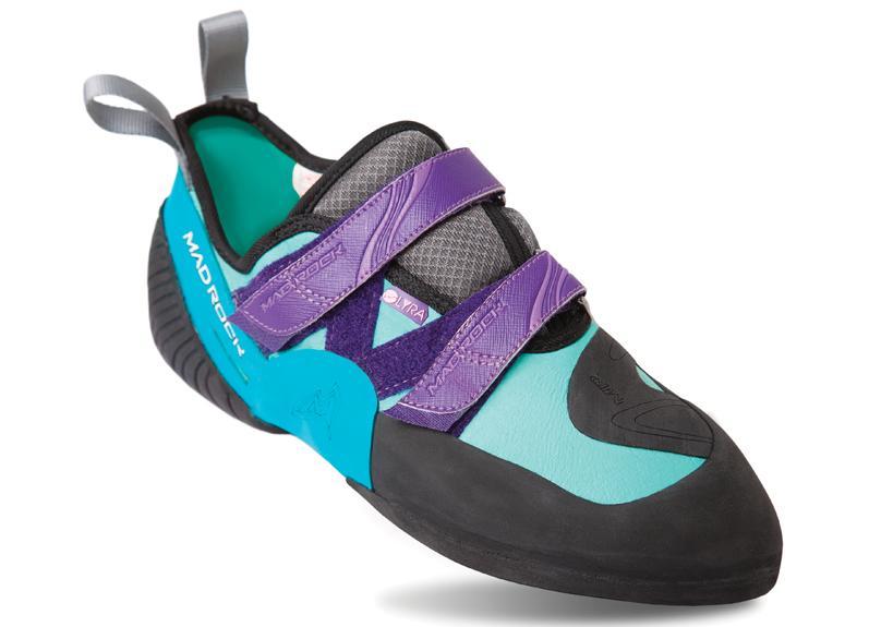 Скальные туфли LYRAСкальные туфли<br>Скальные туфли Lyra — универсальная женская модель для разных видов скалолазания. Стильные и яркие скальные туфли классической формы, которые обеспечивают превосходное сцепление, благодаря резине на мыске и слегка выгнутой подошве.<br><br>комфо...<br><br>Цвет: Бирюзовый<br>Размер: 5.5