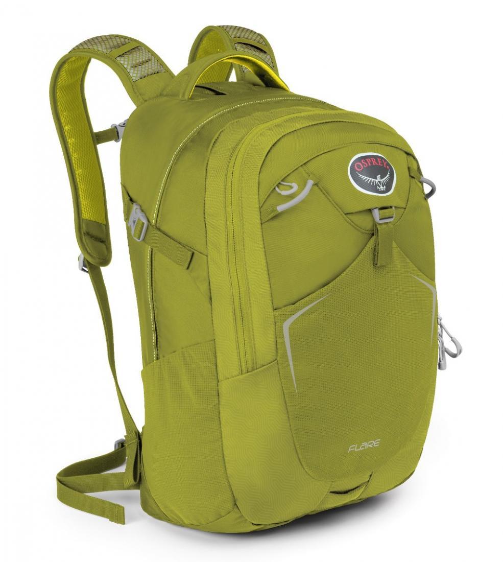 Рюкзак Flare 22Туристические, треккинговые<br><br> Как уместить все нужные в повседневной жизни вещи в одном месте? Легко, если у вас есть универсальный рюкзак Osprey Flare 22. Он вместительный, яркий и очень удобный.<br><br><br> Особенности<br><br><br>Рюкзак выполнен из прочных, уст...<br><br>Цвет: Зеленый<br>Размер: 22 л