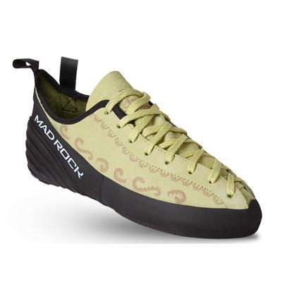 Скальные Mad Rock  туфли BANSHEEСкальные туфли<br>Модель BANSHEEисключительно комфортно сидит на ноге. Слегка зауженный в пятке, разработанный под высокий свод стопы, с зауженным носком - этот тапок учитывает все особенности женской стопы. Натуральная замша позволяет «дышать» скальникам. <br> <br> Шн...<br><br>Цвет: Зеленый<br>Размер: 3.5