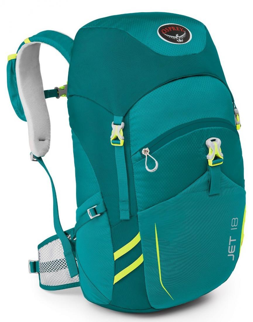Рюкзак Jet 18Спортивные<br>Хотите вдохновить ребенка на занятия различными видами outdoor активности? Jet 18 станет вашим верным помощником. Имея рюкзак с теми же функциональными особенностями, что и взрослый аналог, маленький исследователь незамедлительно отправится навстречу п...<br><br>Цвет: Цвет морской волны<br>Размер: 18 л