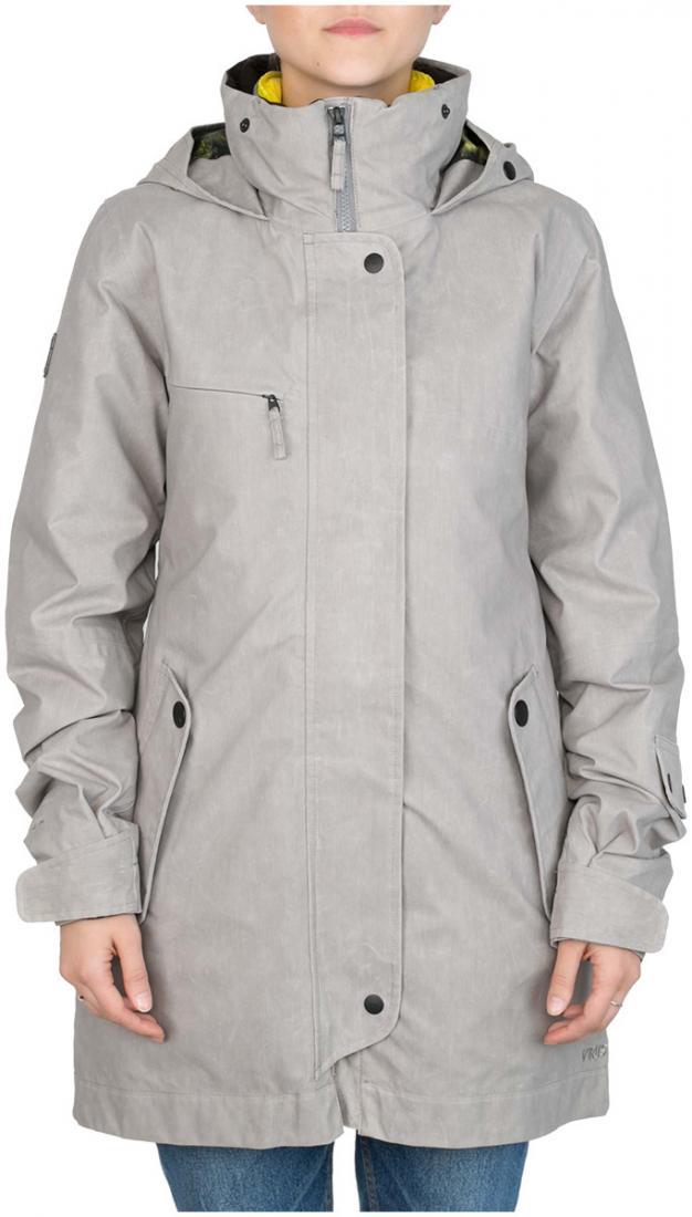 Куртка пуховая Flip WКуртки<br>Модель Flip W - это две куртки, которые по отдельности представляют собой теплую пуховку и легкую парку из ваксовой джинсы, а вместе это непр...<br><br>Цвет: Серый<br>Размер: 48