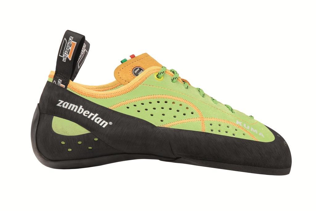 Скальные туфли A48 KUMAСкальные туфли<br><br>Эти скальные туфли идеальны для опытных скалолазов. Колодка этой модели идеально подходит для менее требовательных, но владеющих высок...<br><br>Цвет: Зеленый<br>Размер: 38