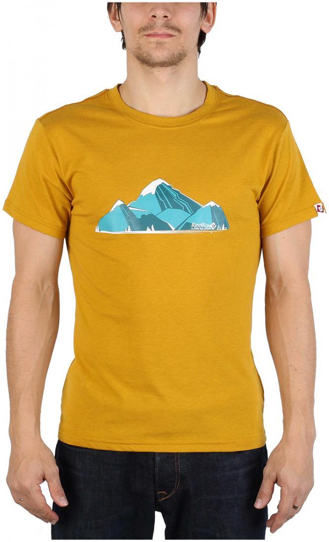 Футболка Fraser МужскаяФутболки, поло<br><br> Легкая и прочная футболка с оригинальным аутдор принтом , выполненная из ткани на 70% состоящей из полиэстера и на 30% из хлопка, что способствует большей износостойкости изделия. создает отличную терморегуляцию и оптимальный комфорт в повседневном...<br><br>Цвет: Желтый<br>Размер: 56