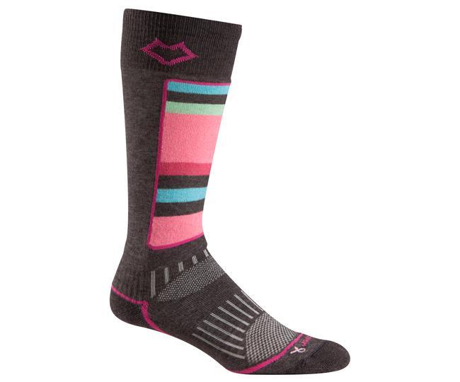 Носки лыжные жен.5516 LutsenНоски<br>Уплотненные голень и подошва обеспечивают защиту от компрессионных повреждений и дополнительную теплоизоляцию. Благодаря уникальной системе переплетения волокон Wick Dry®, влага быстро испаряется с поверхности кожи, сохраняя ноги в комфорте.<br><br>&lt;ul...<br><br>Цвет: Темно-серый<br>Размер: L