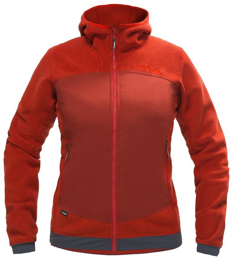 Куртка Ozone ЖенскаяКуртки<br>Куртка Ozone выполнена из комбинации материала Polartec® и стрейчивых вставок на спине и спереди. Куртку можно использовать в качестве среднего слоя в холодную погоду или как наружный слой – в тёплую.<br>Куртка прекрасно сохраняет тепло и обеспечивает ве...<br><br>Цвет: Красный<br>Размер: L