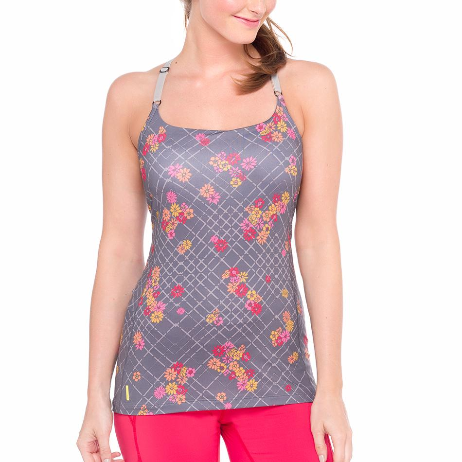Lole Топ LSW1310 LACEY TANK TOP (M, OYSTER FLOWER GRID, ,) lole топ lsw2255 lavana top m dazzling blue heather