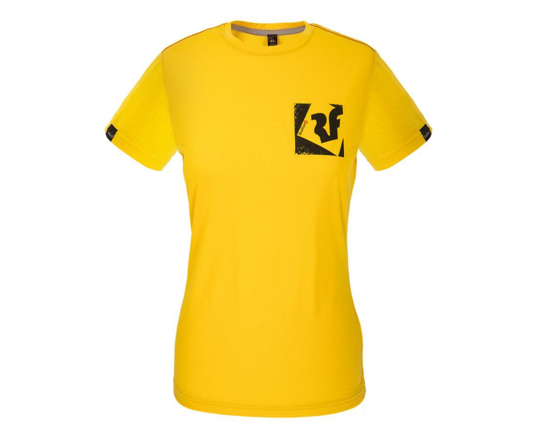 Футболка Quest II ЖенскаяФутболки, поло<br><br> Легкая и прочная футболка с фирменным принтом, выполненная из материала на 30% состоящего из хлопка и на 70% из полиэстера, что способствует большей износостойкости изделия. Создает отличную терморегуляцию и оптимальный комфорт в повседневном испол...<br><br>Цвет: Желтый<br>Размер: 44