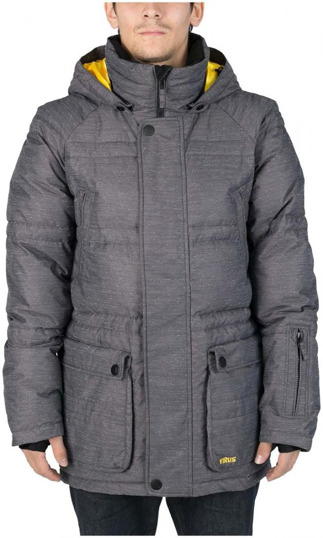 Куртка пуховая PlusКуртки<br><br> Пуховая куртка Plus разработана в лаборатории ViRUS для экстремально низких температур. Комфорт, малый вес и полная свобода движения – вот залог успеха этого пуховика. Лаконичная отделка куртки, вместительные карманы на кнопках не отвлекают от глав...<br><br>Цвет: Темно-серый<br>Размер: 46
