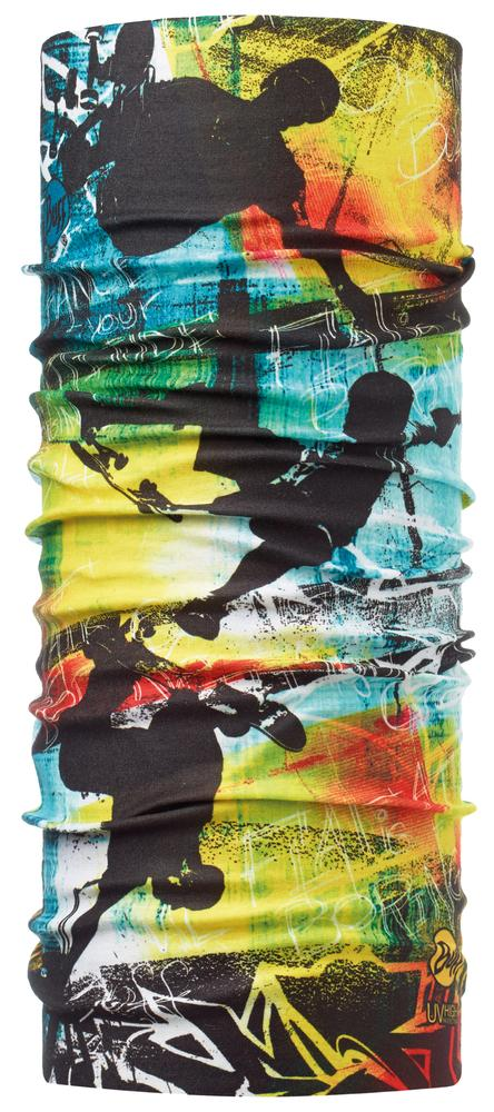 Бандана JUNIOR HIGH UVБанданы<br>Детская бесшовная бандана-труба из серии High UV BUFF®, которую можно носить на шее и на голове, как шейный платок, маску, бандану, шапку и подшлем...<br><br>Цвет: Желтый<br>Размер: 50-55