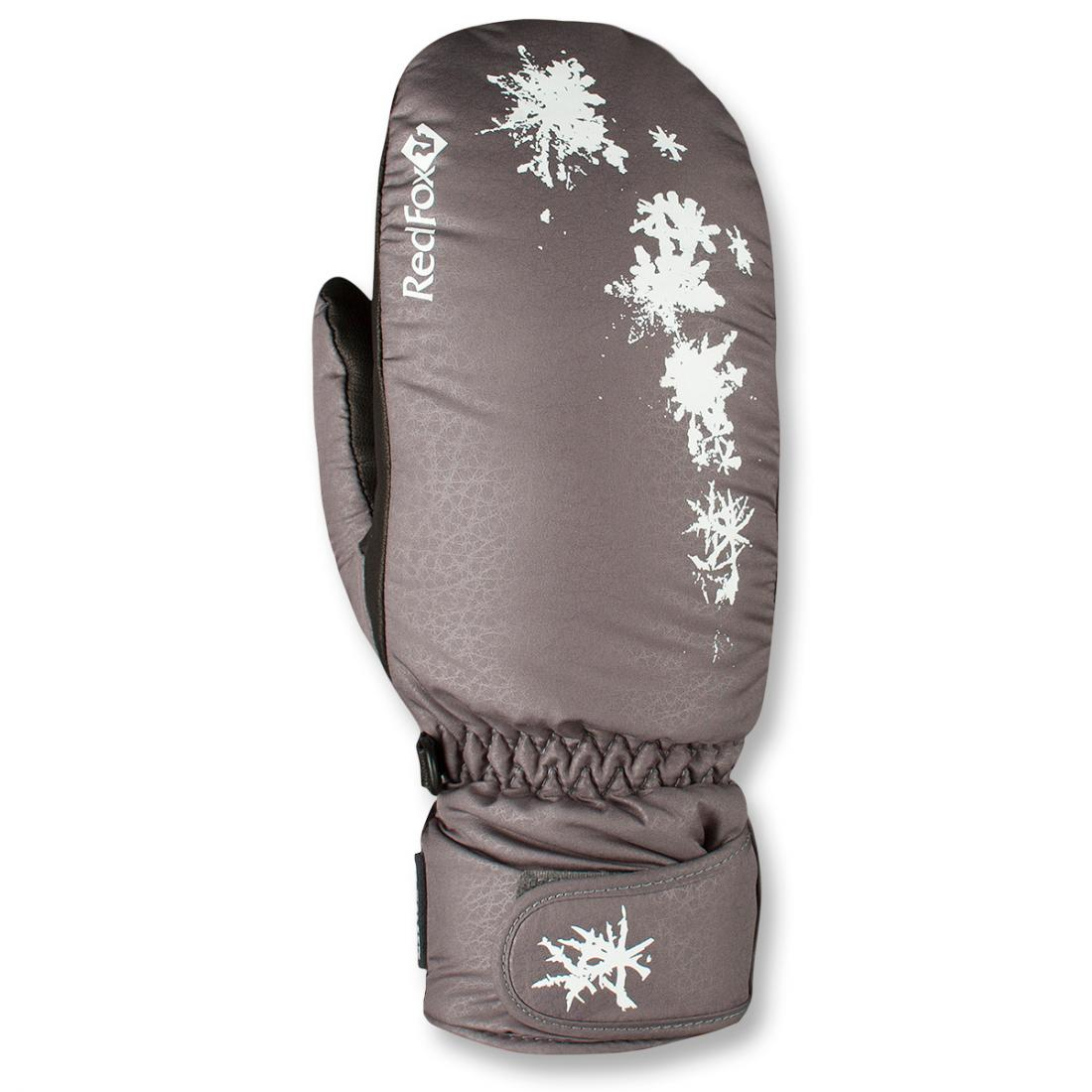 Рукавицы утепленные Paradise II ЖенскиеВарежки<br><br> Прогулочные утепленные рукавицы с ярким дизайном<br><br><br> Основные характеристики<br><br><br>манжет с регулировкой объема на липучке<br>усиления в области ладони<br>карабин для крепления рукавиц к одежде или ме...<br><br>Цвет: Серый<br>Размер: L