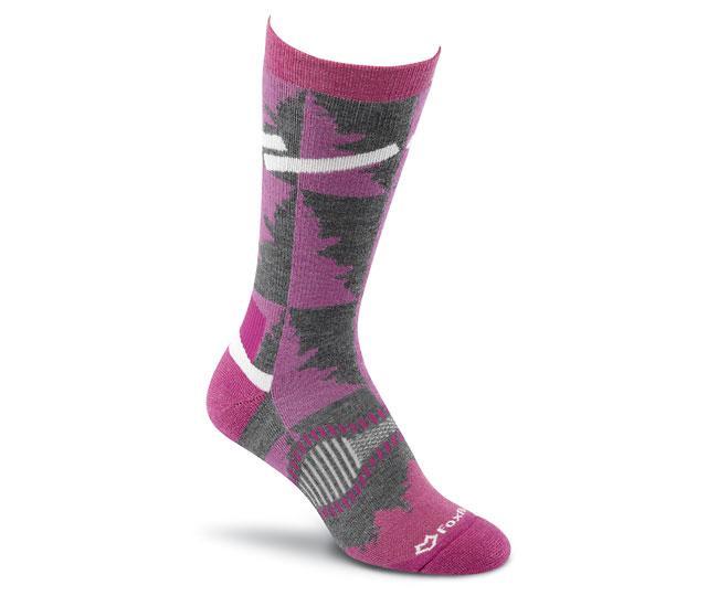 Носки турист. 2535 Cypress Crew жен.Носки<br>Эти носки средней толщины подходят для любых приключений. Они изготовлены из устойчивых волокон TENCEL® и мериносовой шерсти, благодаря чем...<br><br>Цвет: Бордовый<br>Размер: L