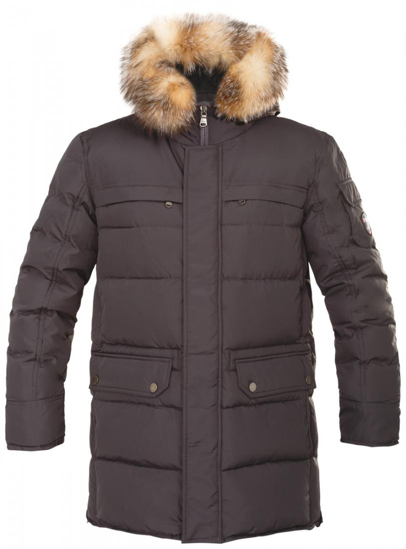 Куртка пуховая мужская TALONКуртки<br> Просим уточнять вид используемого меха в модели у менеджеров клиент-центра.  <br>Теплая стеганая пуховая парка TALON гармонично дополнит ваш непринужденный и, в то же время, модный образ. Съемный капюшон...<br><br>Цвет: Коричневый<br>Размер: L