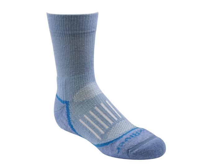 Носки детские 2952 Trail Jr.CrewНоски<br><br> Тонкие детские носки с идеальной посадкой. Благодаря уникальной системе переплетения волокон Wick Dry®, влага быстро испаряется с поверхн...<br><br>Цвет: Голубой<br>Размер: S