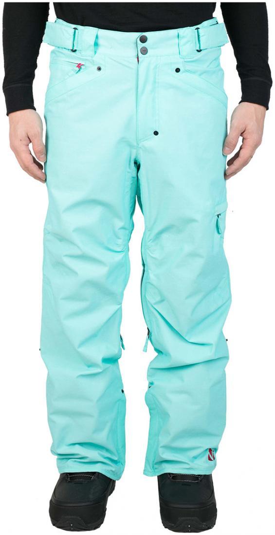 Штаны сноубордические MobsterБрюки, штаны<br><br> Сноубордические штаны свободного кроя Mobster сконструированы специально для катания вне трасс. Этому также способствуют карманы, препят...<br><br>Цвет: Голубой<br>Размер: 56