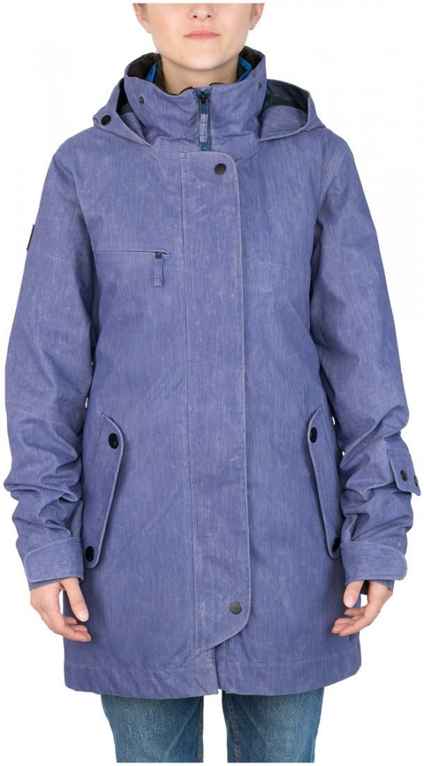 Куртка пуховая Flip WКуртки<br>Модель Flip W - это две куртки, которые по отдельности представляют собой теплую пуховку и легкую парку из ваксовой джинсы, а вместе это непр...<br><br>Цвет: Темно-синий<br>Размер: 42
