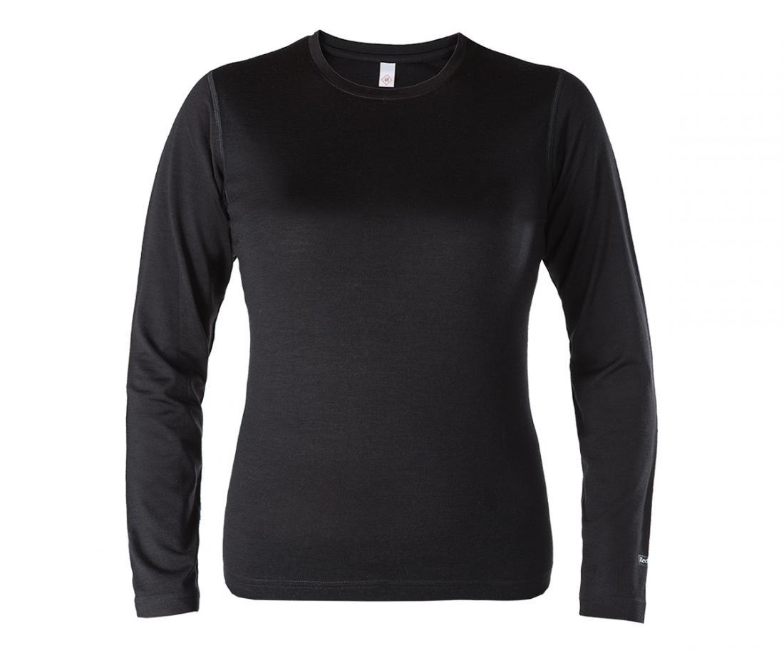 Термобелье футболка с длинным рукавом Merino Air ЖенскийФутболки<br>Теплая женская футболка, выполнена из комбинации полиэстера и мериносовой шерсти с воздушной прослойкой между волокнами; приятна к телу, естественным образом отводит влагу и сохраняет тепло в самых суровых условиях. Синтетические волокна позволяют увел...<br><br>Цвет: Черный<br>Размер: XL