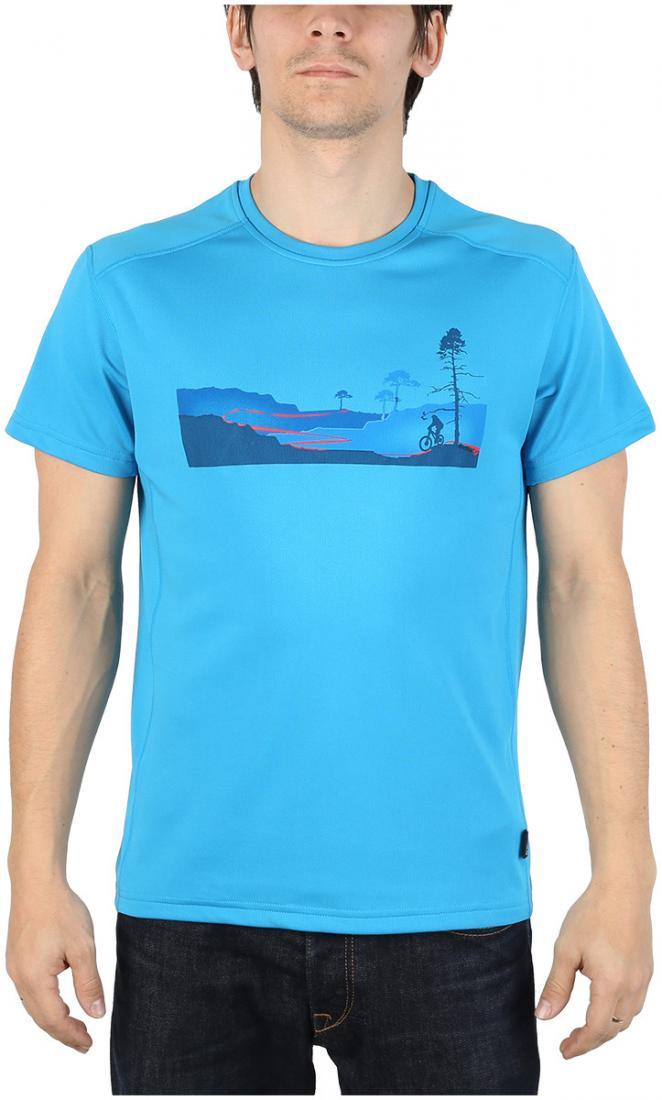 Футболка Ride T МужскаяФутболки, поло<br><br> Легкая и функциональная футболка свободного кроя из материала с высокими влагоотводящими показателями. Может использоваться в качест...<br><br>Цвет: Голубой<br>Размер: 54