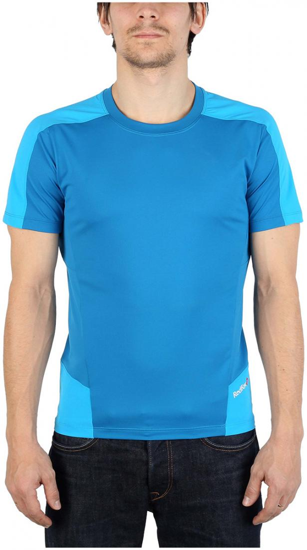 Футболка Amplitude SS МужскаяФутболки, поло<br><br> Легкая и функциональная футболка, выполненная изкомбинации мягкого полиэстерового трикотажа, обеспечивающего эффективный отвод влаги, и усиленийиз нейлоновой ткани с высокой абразивной устойчивостью в местах подверженных наибольшим механическим н...<br><br>Цвет: Голубой<br>Размер: 48