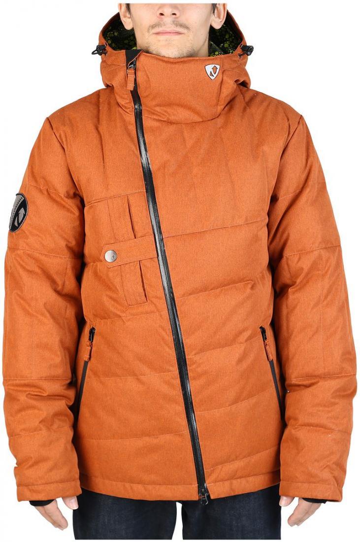 Куртка пуховая DischargeКуртки<br><br>Оригинальный мужской пуховик для тех, кто любит выделяться. Все детали в куртке Discharge сконструированы так, что внимание окружающих естественным образом направлено на неё. Косая молния, нагрудный карман с интересной застежкой, ассиметричная прост...<br><br>Цвет: Коричневый<br>Размер: 56