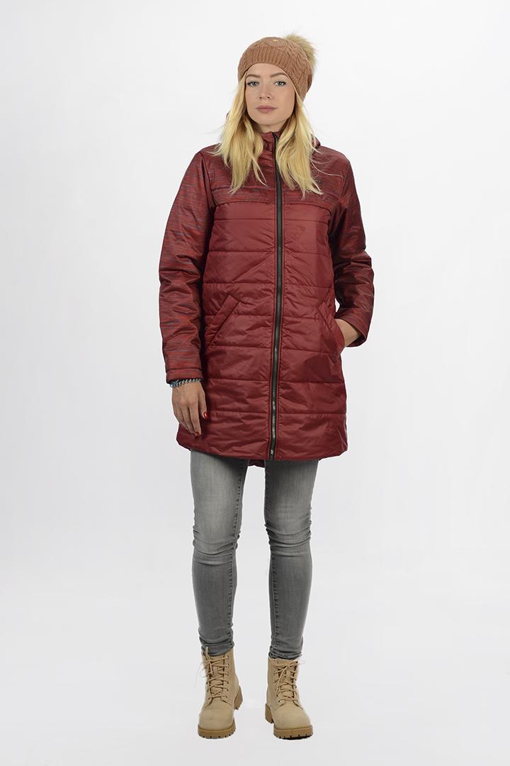 Куртка 42629 жен.Куртки<br><br> Куртка, выполненная из высококачественного мембранного материала, обладает качественным утеплителем высокой плотности и подойдет для повседневного использования в холодное время года. Авторский принт Twill Melange Print придает элементу верхней оде...