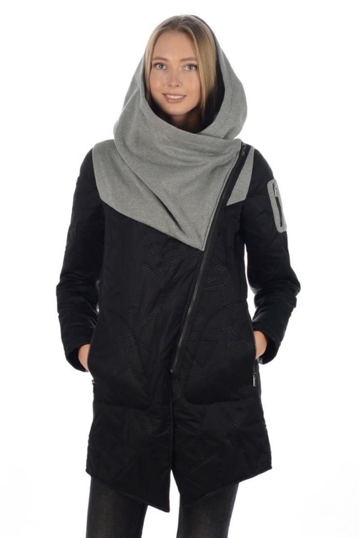 Куртка 17-47634 жен.Куртки<br>Трендовое утепленное полупальто с декоративными элементами отделки и стежки.<br><br>Технологичный стеганный материал<br>Трапециеви...<br><br>Цвет: Черный<br>Размер: 40