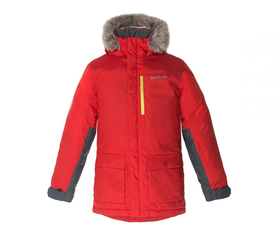 Куртка утепленная Spy Fox II ДетскаяКуртки<br>Стильная и комфортная зимняя куртка для подростков c опушкой из искусственного меха на капюшоне и регулировками по объему и глубине.<br> Два боковых кармана на молнии, внутренний карман и карман на рукаве, регулируемые манжеты на рукавах, затяжка по низ...<br><br>Цвет: Красный<br>Размер: 134