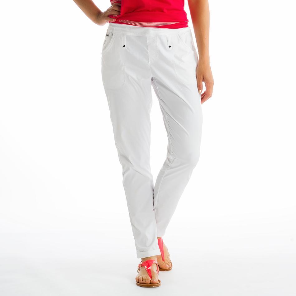 Брюки LSW0978 GATEWAY PANTSБрюки, штаны<br><br> Объемная небрежность этих брюк со стяжкой на поясе выше всяких похвал. Они воплотились в легчайшей ткани Stretch Momentum Herringbone с функциями вл...<br><br>Цвет: Белый<br>Размер: M