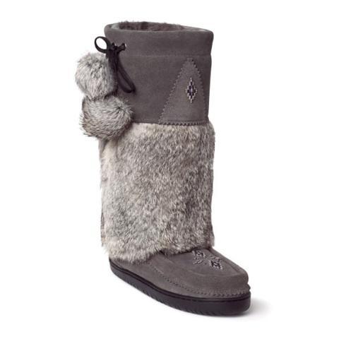 Manitobah Унты Snowy Owl Mukluk женск (7, Charcoal /св-серый, ,) унты centro унты