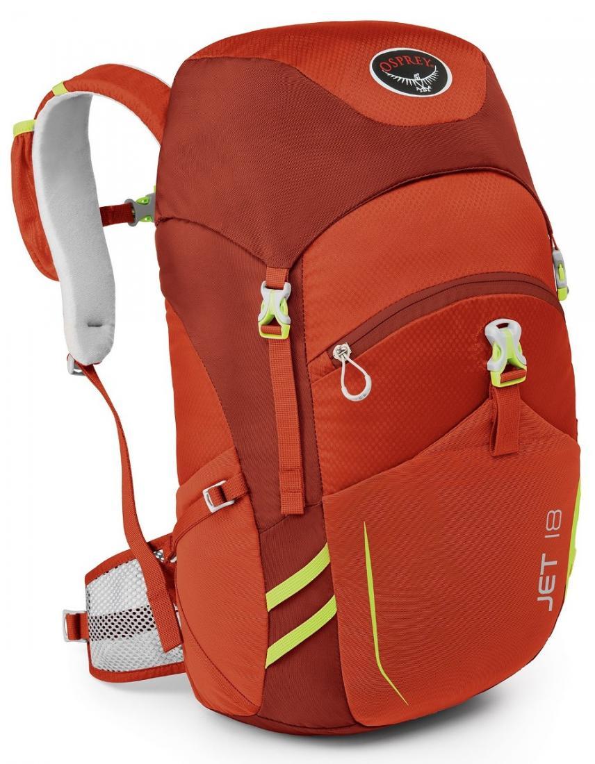 Рюкзак Jet 18Спортивные<br>Хотите вдохновить ребенка на занятия различными видами outdoor активности? Jet 18 станет вашим верным помощником. Имея рюкзак с теми же функциональными особенностями, что и взрослый аналог, маленький исследователь незамедлительно отправится навстречу п...<br><br>Цвет: Темно-красный<br>Размер: 18 л