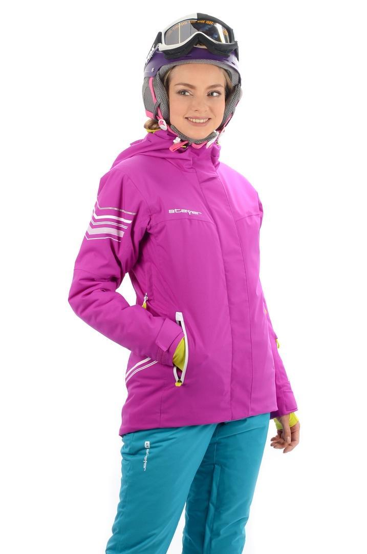 Куртка 17-42525 жен.Куртки<br>Актуальная однотоновая горнолыжная куртка с высоким набором функциональных элементов из эксклюзивного мембранного материала с эффектом 4W Stretch - для полной свободы движения. Высокие показатели водонепроницаемости / паропроницаемости. Конструкционная ос...<br><br>Цвет: Фиолетовый<br>Размер: 42