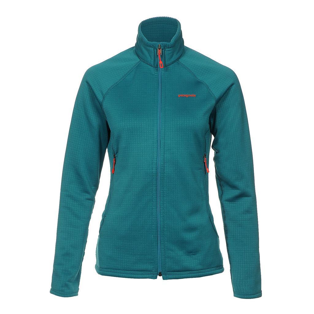Куртка 40137 WS R1 FULL-ZIP JKTКуртки<br><br> Флисовый жакет Patagonia R1 Full-Zip создан для женщин, которые предпочитают зимние виды спорта и активный отдых. Модель дарит тепло и комфорт, и ...<br><br>Цвет: Цвет морской волны<br>Размер: M