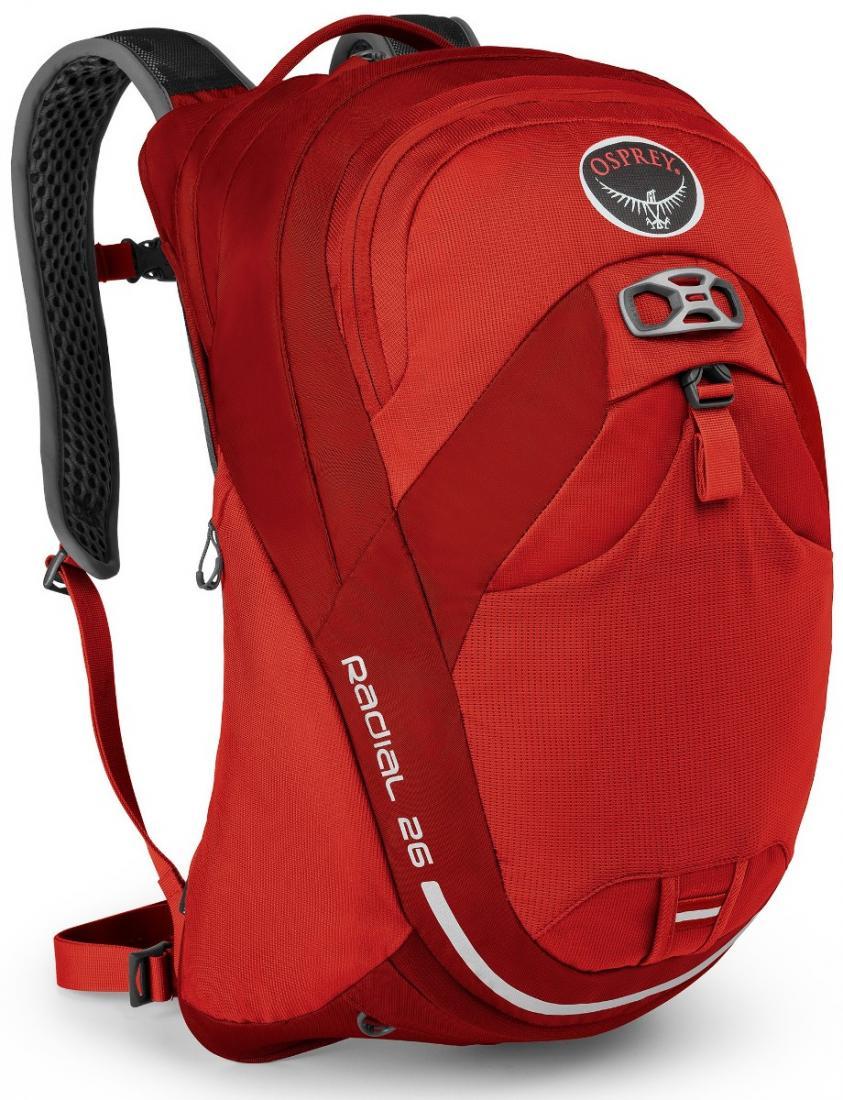 Рюкзак Radial 26Рюкзаки<br>Поездка может быть нелегкой, но много проблем решит Radial 34. Хорошо вентилируемая спина AirSpeed™ и лямки с подкладкой из сетки позволяют сбала...<br><br>Цвет: Красный<br>Размер: 26 л