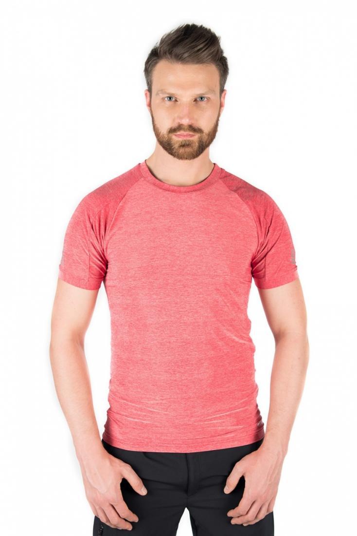 Футболка 823138Футболки, поло<br>Особенности <br><br>Быстросохнущая ткань (Tactel/Spandex) <br>Повышенная эластичность <br>Повышенная влагоотводимость <br>Дышащий ...<br><br>Цвет: Розовый<br>Размер: 54