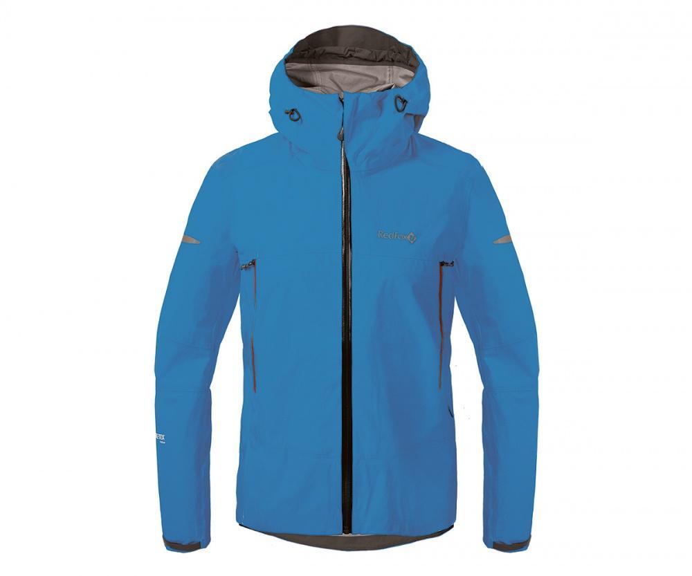 Куртка ветрозащитная SkyКуртки<br><br>Новейшая разработка в серии штормовых курток Red Fox, изготовлена из инновационного материала GORE-TEX® Active Products: самый низкий вес при высокой прочности и самые высокие показатели паропроницаемости при максимальной защите от дождя и ветра.<br>&lt;/...<br><br>Цвет: Синий<br>Размер: 42