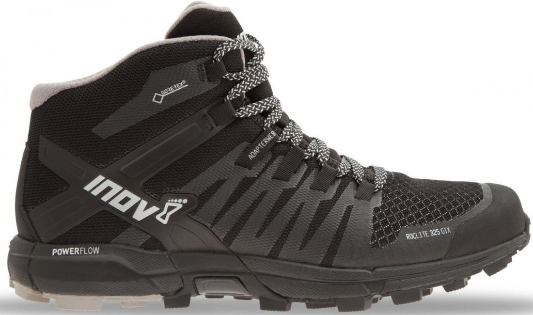 Inov-8 Кроссовки Roclite 325 GTX жен. (6.5, Black/Grey, , ,) inov 8 футболка at c tri blend ss strip w 6 black pink