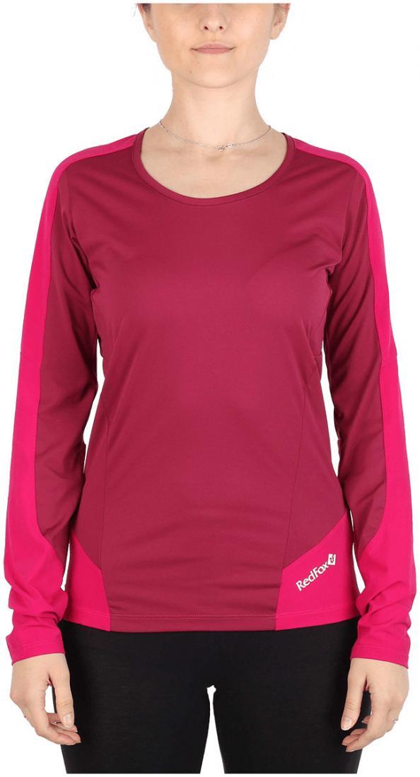 Футболка Amplitude LS ЖенскаяФутболки, поло<br><br> Легкая и функциональная футболка, выполненная изкомбинации мягкого полиэстерового трикотажа, обеспечивающего эффективный отвод влаги, и усилений изнейлоновой ткани с высокой абразивной устойчивостьюв местах подверженных наибольшим механическим н...<br><br>Цвет: Малиновый<br>Размер: 42