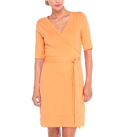 Платье LSW1277 BLAKE DRESSПлатья<br><br>Приталенный силуэт. <br>Материал: хлопок, полиэстер. <br>Длина – 99 см. <br>V-образный вырез.<br><br><br>Цвет: Оранжевый<br>Размер: L
