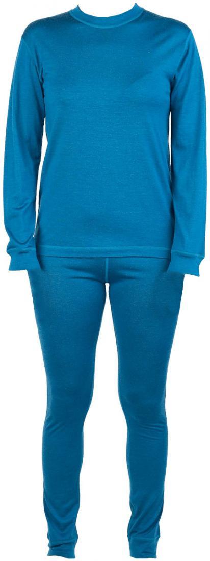 Термобелье костюм Wooly ДетскийКомплекты<br>Прекрасно согревая, шерстяной костюм абсолютно не сковывает движений и позволяет ребенку чувствовать себя комфортно, обеспечивая необходимое тепло.<br> <br><br>Материал – мериносовая шерсть.<br> <br>Плоские швы.<br>Пояс на рез...<br><br>Цвет: Темно-синий<br>Размер: 104