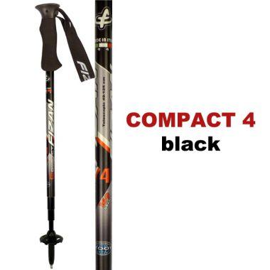 Палки трекинговые COMPACT 4Треккинговые палки<br><br><br>Цвет: Черный<br>Размер: None