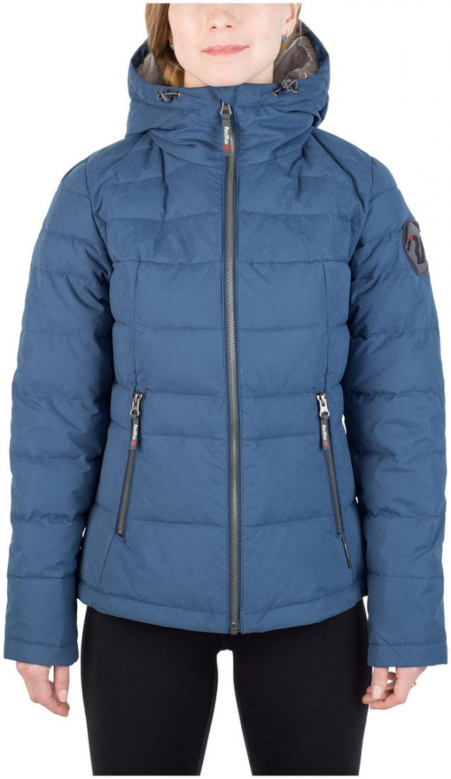 Куртка пуховая Kiana ЖенскаяКуртки<br><br> Пуховая куртка из прочного материала мягкой фактурыс «Peach» эффектом. стильный стеганый дизайн и функциональность деталей позволяют и...<br><br>Цвет: Синий<br>Размер: 46