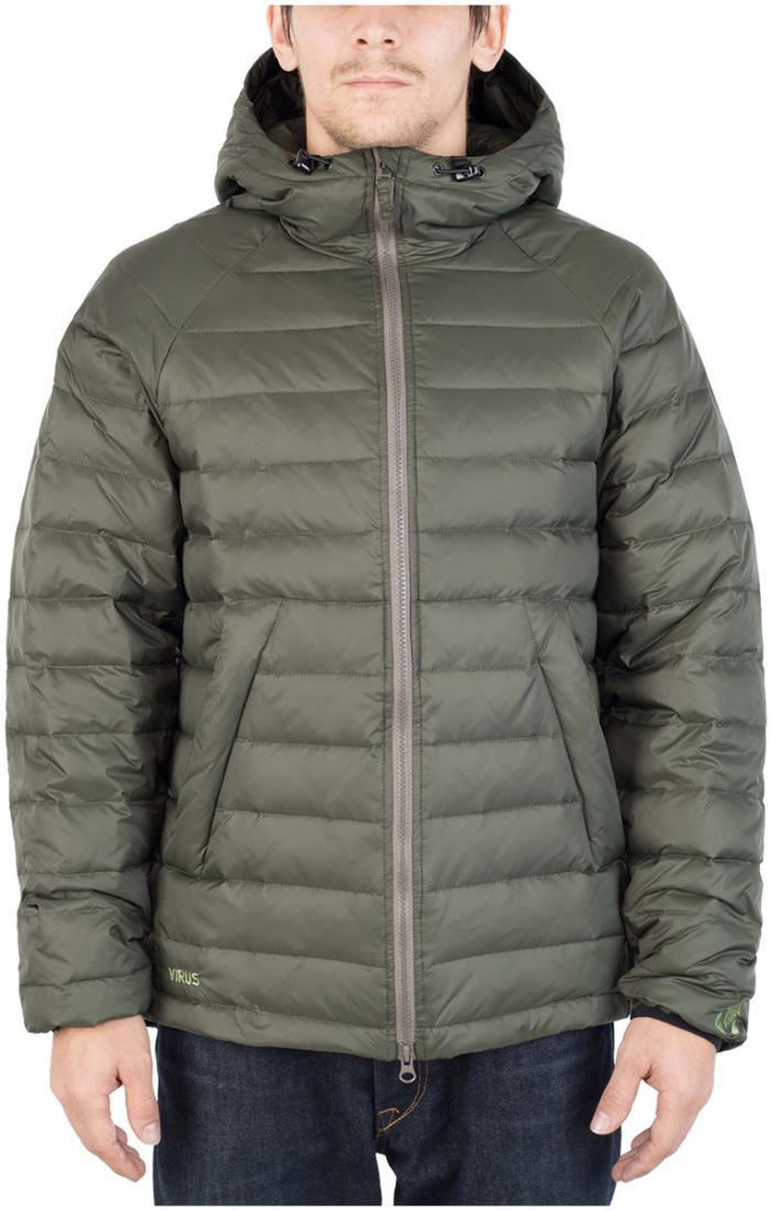Куртка пуховая PUSHERКуртки<br><br>Пуховая кенгуру? Почему бы и нет! Легкая. Выполнена из тонкой ткани с водоотталкивающей обработкой DWR. Куртка отлично сидит по фигуре.<br>...<br><br>Цвет: Хаки<br>Размер: 44