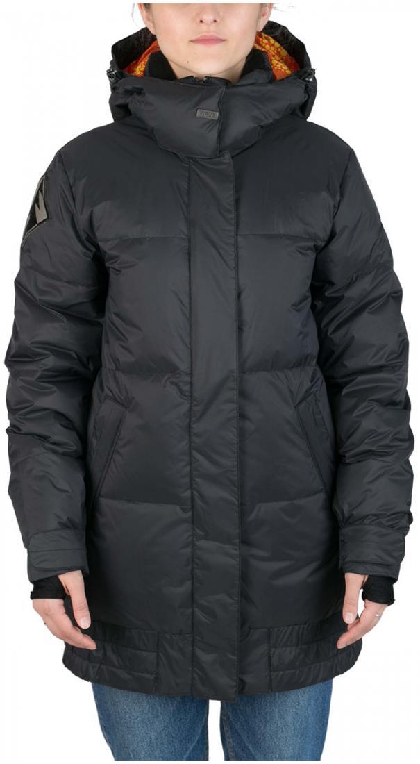 Куртка пуховая IC женскаяКуртки<br>Пуховик женственной формы «тюльпан» для девушек, которые не хотят потеряться на склоне. Обладая всем функционалом катальной куртки и уте...<br><br>Цвет: Черный<br>Размер: 48